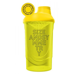 Sizeandsymmetry shaker 600 ml žltý