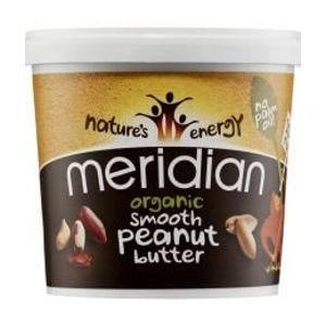 Meridian Organic Arašidové maslo hladké = smooth 100% 1000g