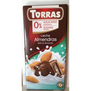 Torras mliečna čokoláda s mandľami 75 g