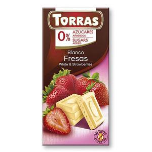 Torras Biela čokoláda s jahodou 75 g