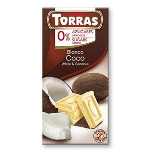 Torras Biela čokoláda s kokosom 75 g