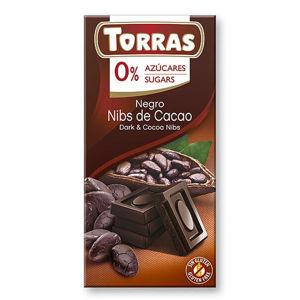 Torras čokoláda s kakaovými bôbmi 75 g
